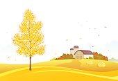 Autumn farm background