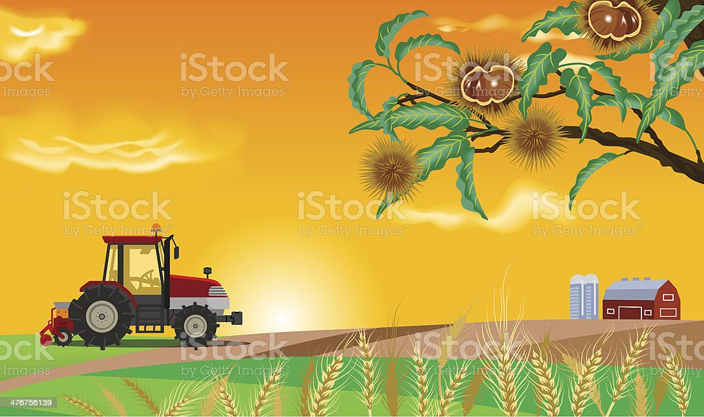 Autumn Farm royalty-free stock vector art