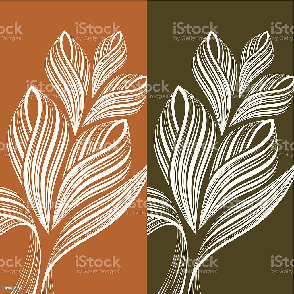 Autumn flower royalty-free stock vector art