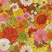 istock Autumn flowers and butterflies. 1198635313