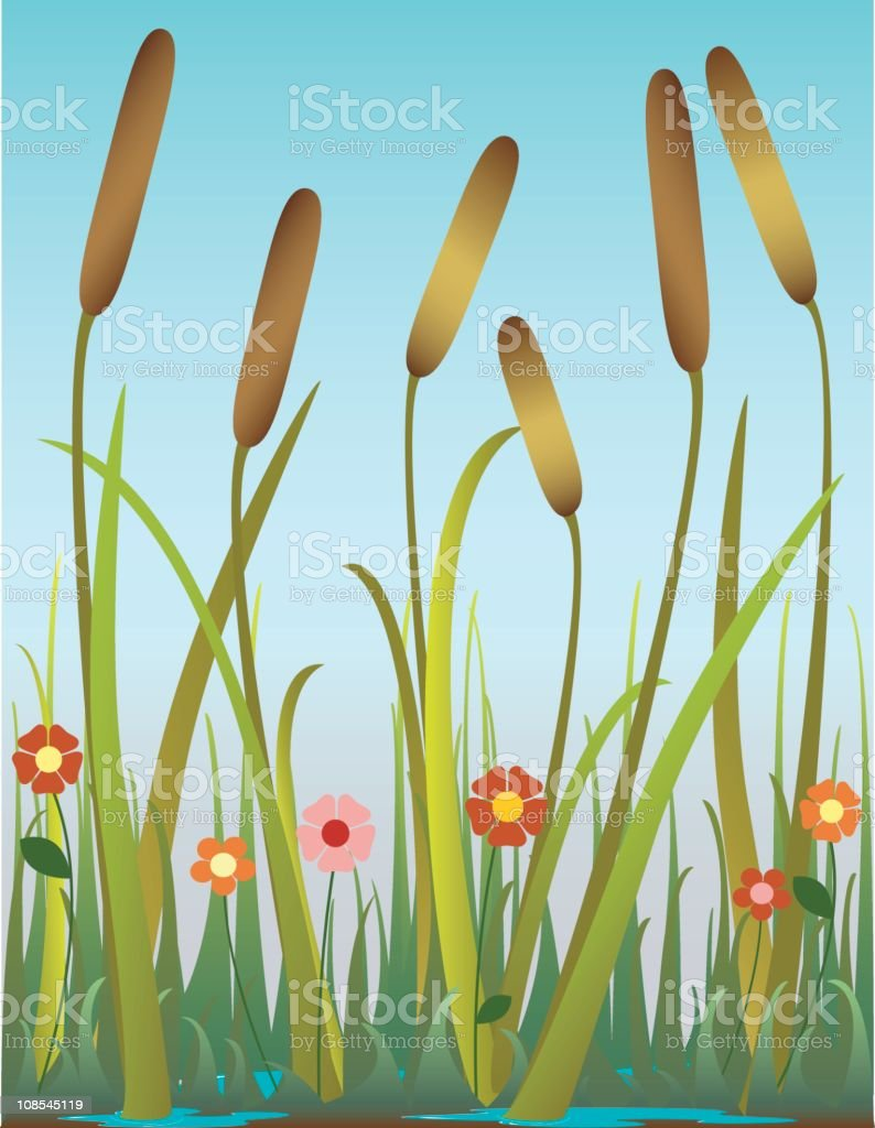 Autumn flowers royalty-free stock vector art