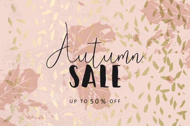 ilustraciones, imágenes clip art, dibujos animados e iconos de stock de fondo otoño de blush oro elegante moda de la colección del follaje - moda de otoño