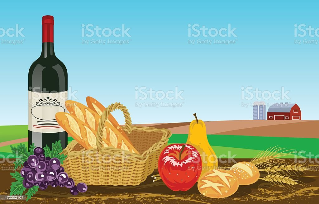 Autumn foods in Farm royalty-free autumn foods in farm stock vector art & more images of agriculture