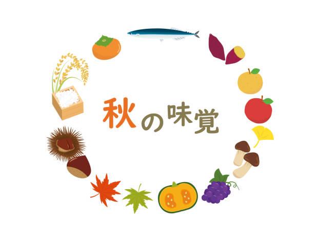 秋の食べ物1 - 松茸点のイラスト素材/クリップアート素材/マンガ素材/アイコン素材