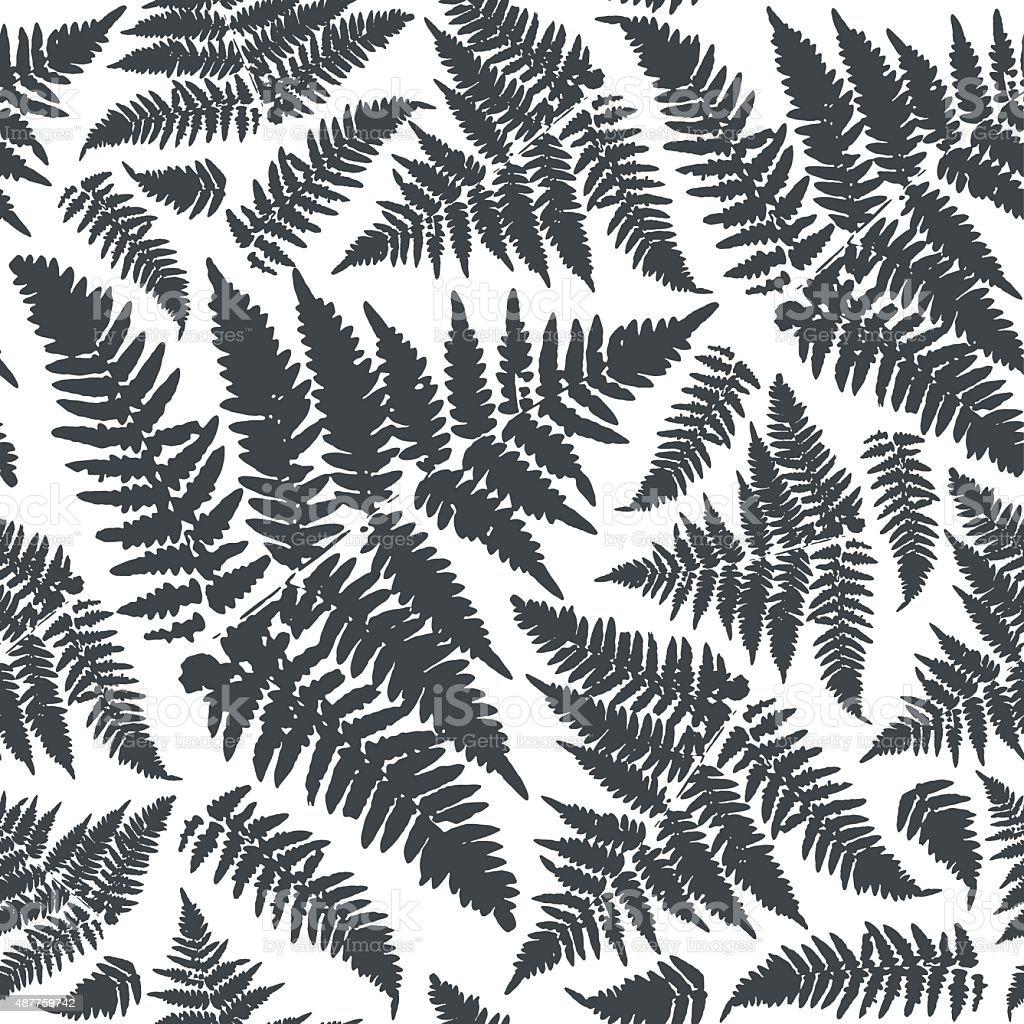 Autumn forest seamless pattern vector art illustration