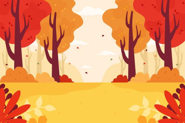秋の森 - 秋点のイラスト素材/クリップアート素材/マンガ素材/アイコン素材
