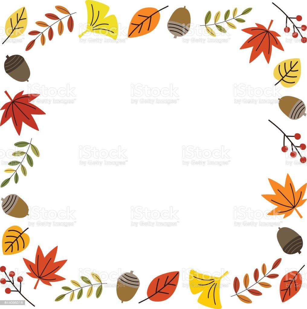 秋のフレーム かえでの葉のベクターアート素材や画像を多数ご