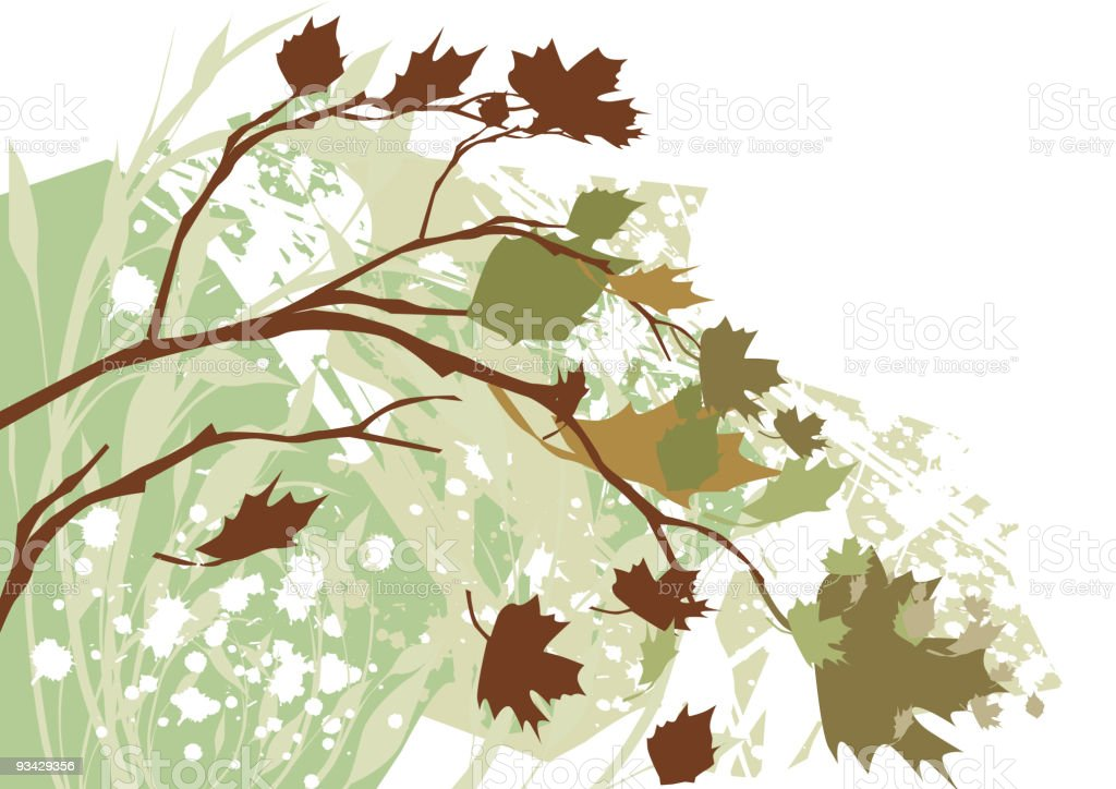 Autumn Grunge Background royalty-free autumn grunge background stock vector art & more images of abstract