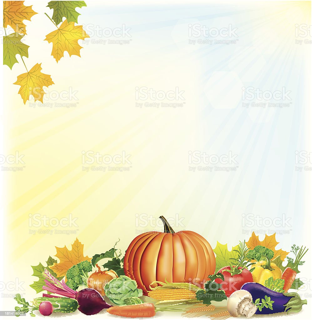 Autumn harvest background royalty-free autumn harvest background stock vector art & more images of autumn
