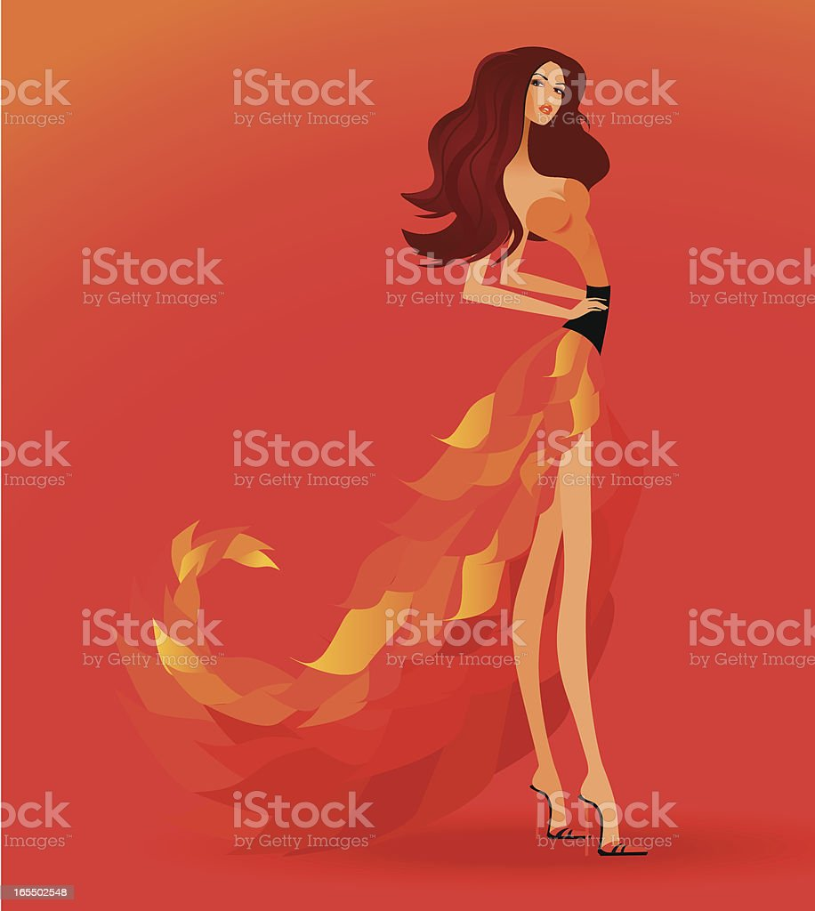 Autumn Haute couture royalty-free stock vector art