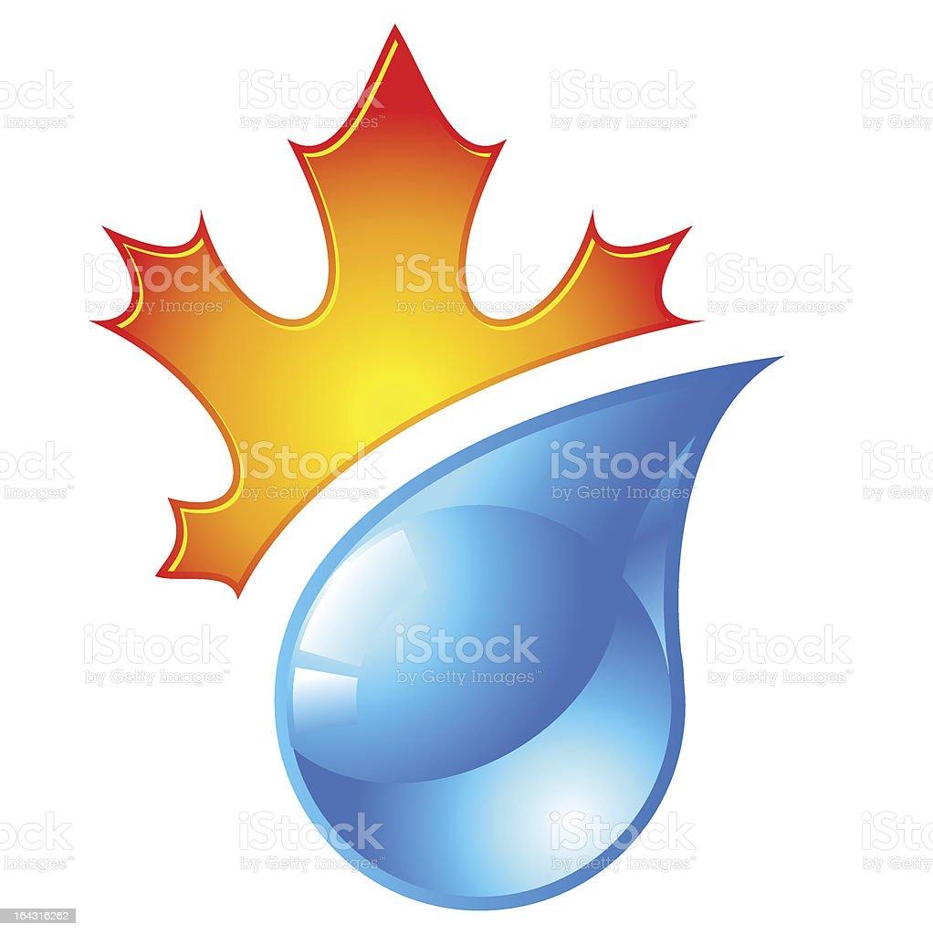 autumn icon royalty-free stock vector art