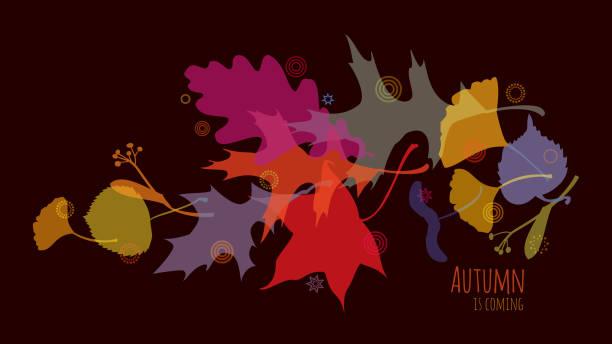Autumn is coming vector art illustration