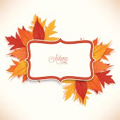Autumn and thanksgiving floral label background, layered and groupped, high res. JPG included. Eps 10, transparency used. More related: