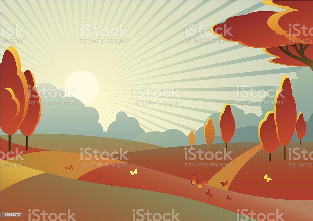 autumn landscape royalty-free autumn landscape stock vector art & more images of autumn