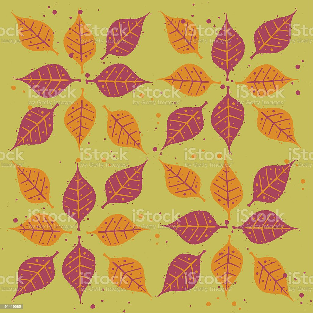 Autumn Leaf Background royalty-free stock vector art