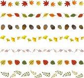 秋の葉の罫線
