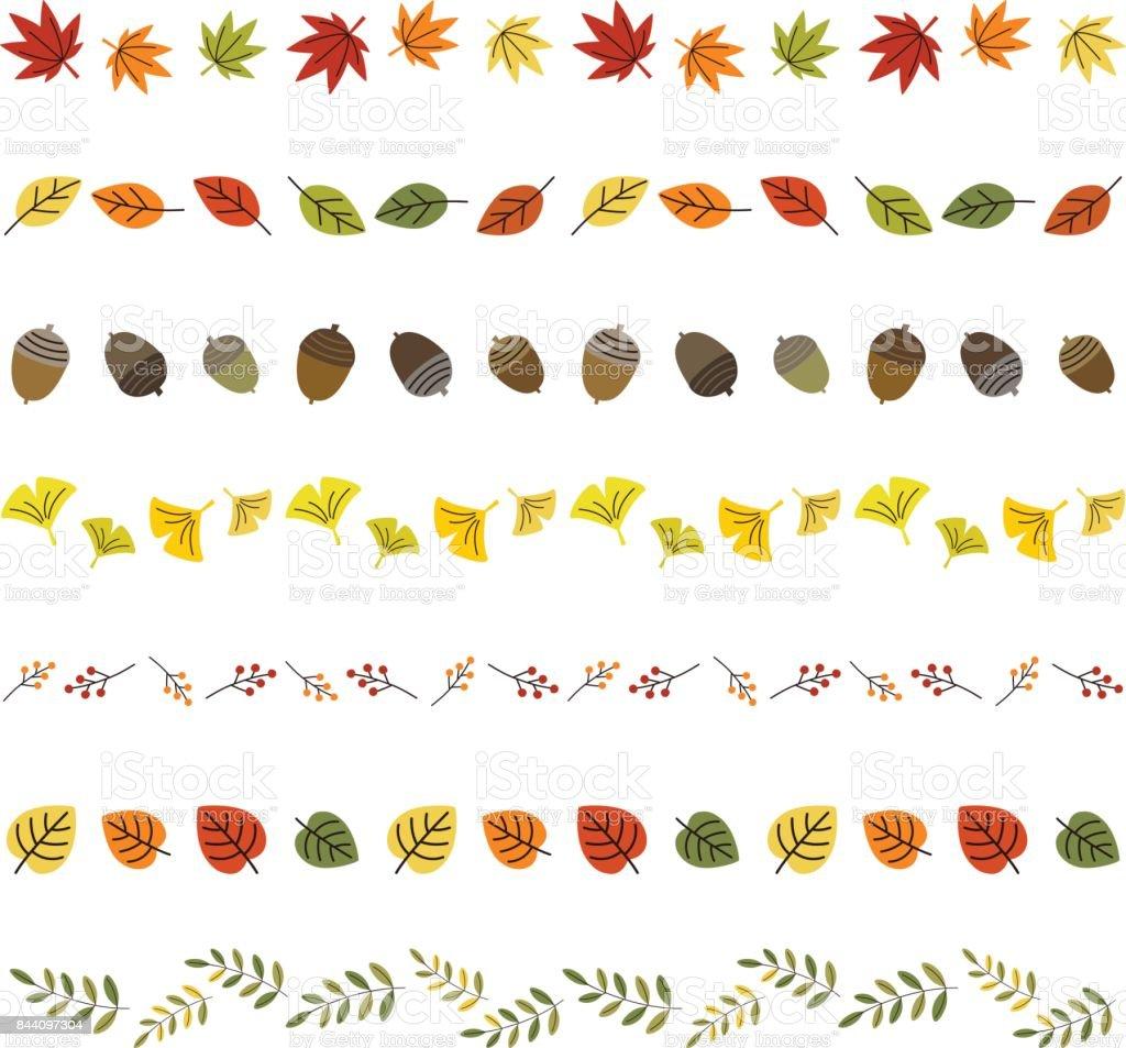 Herbst Blatt Grenzen – Vektorgrafik