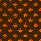 Autumn Leaf Camping Seamless Pattern