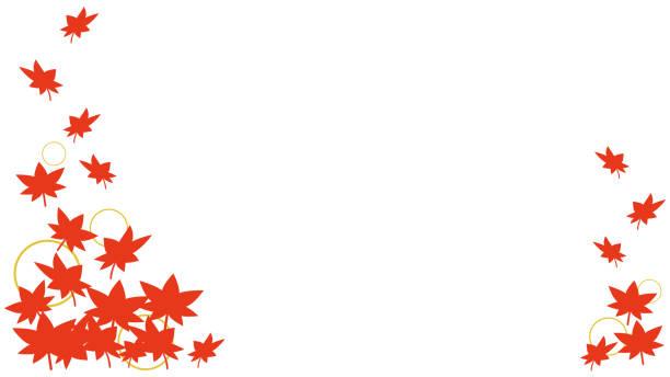 Autumn leaf decoration frame illustration vector art illustration