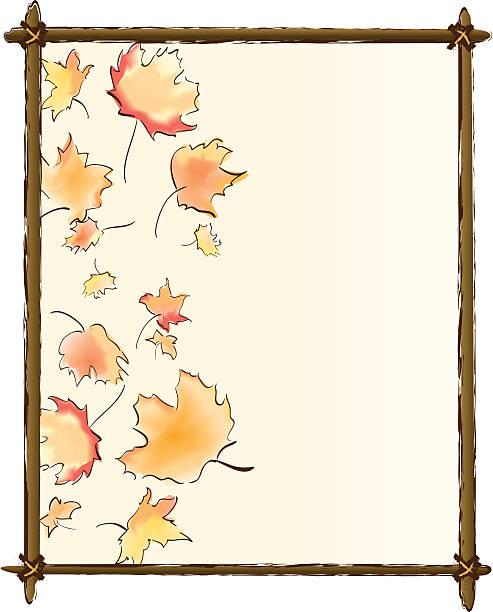 Autumn Leaf Frame vector art illustration