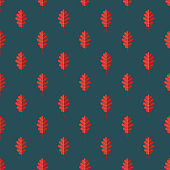 Autumn Leaf Germany Seamless Pattern