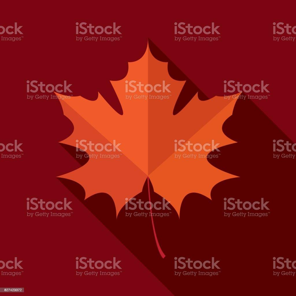 Herbstblatt Symbol flach – Vektorgrafik