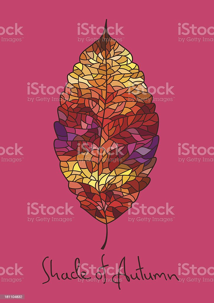 Autumn leaf made of mosaic royalty-free autumn leaf made of mosaic stock vector art & more images of autumn
