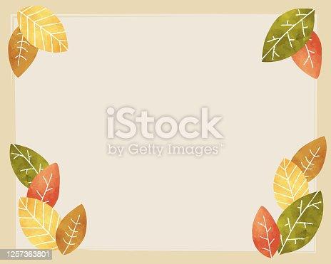 istock autumn leaf simple illustration background 1257363801