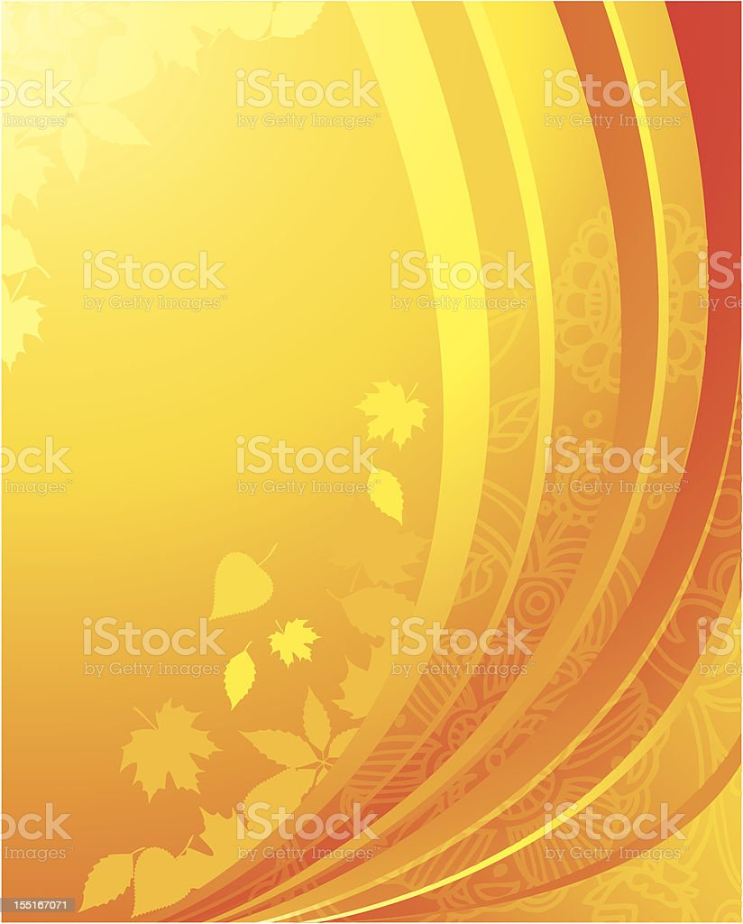 Autumn leafs back royalty-free stock vector art