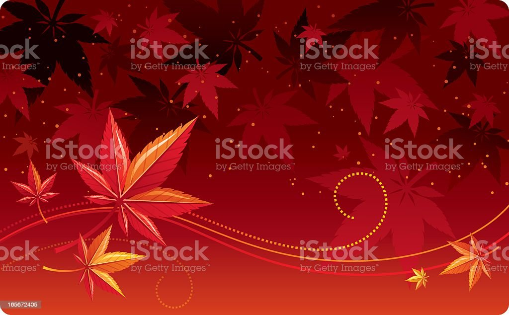 Autumn leafs background royalty-free stock vector art