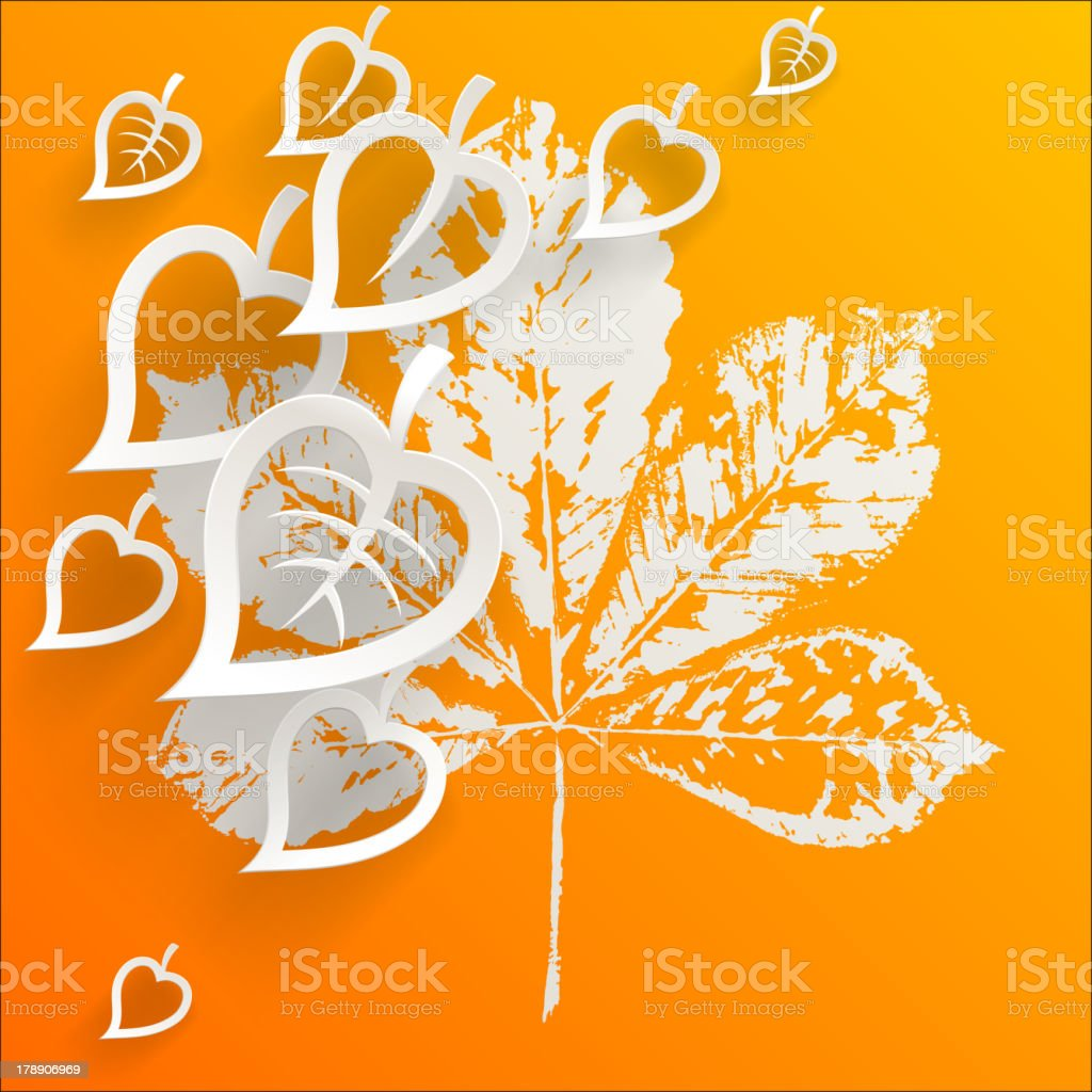Autumn leaves. Abstract background. royalty-free stock vector art