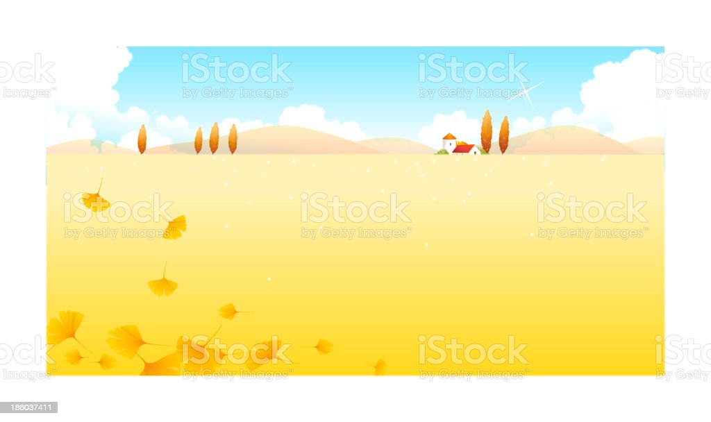 Autumn leaves and landscape royalty-free autumn leaves and landscape stock vector art & more images of architecture