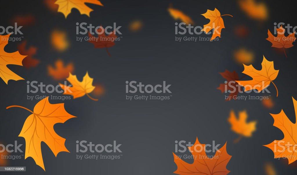 Autumn Leaves Background vector art illustration