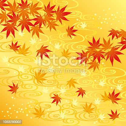 background of autumn leaves and river.