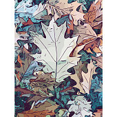 Vector illustration of a pencil drawing background with autumn leaves on the ground