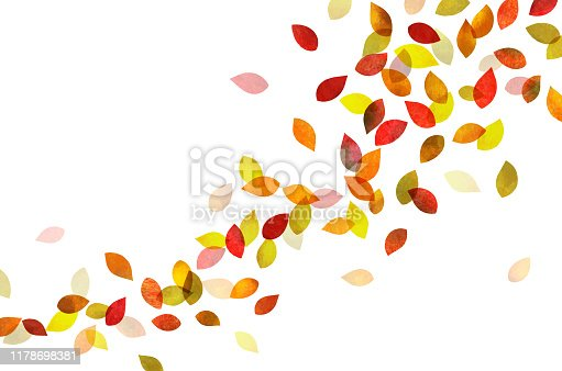 Autumn leaves Dancing (watercolor pencil texture)