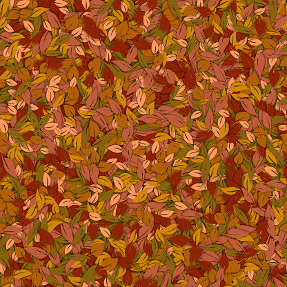 Autumn leaves hand drawn background
