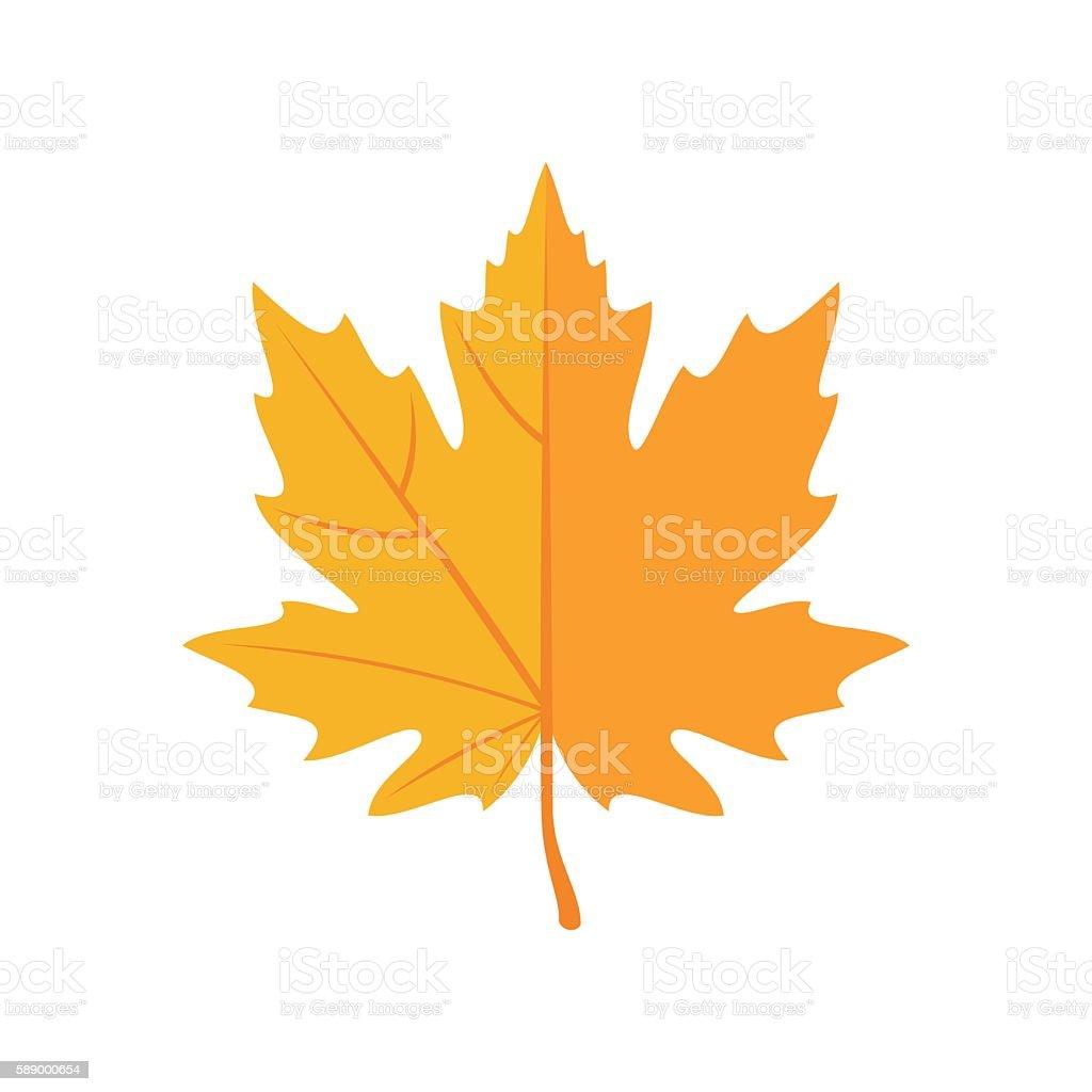 Autumn Leaves icon in flat style. vector art illustration