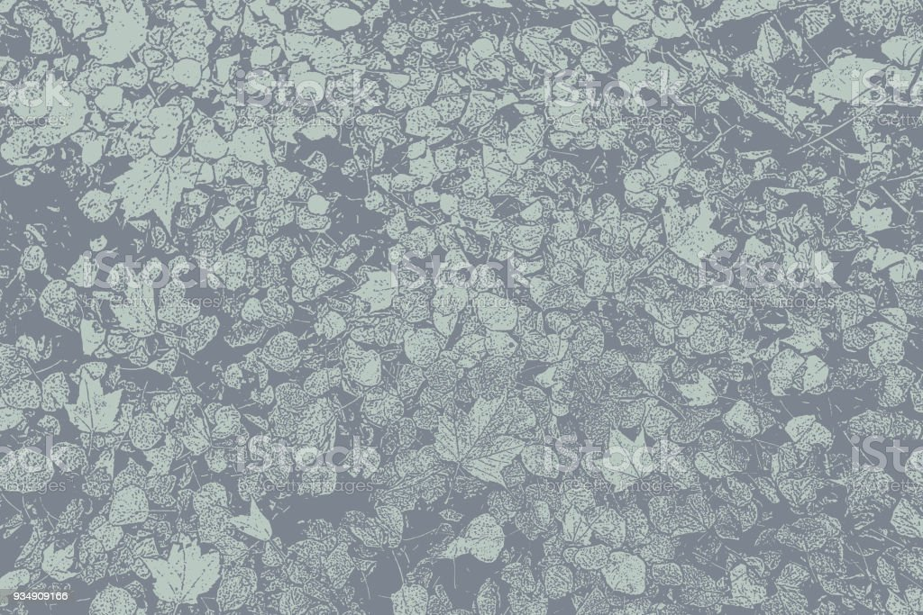 Autumn leaves on a footpath in a Minnesota State Park vector art illustration