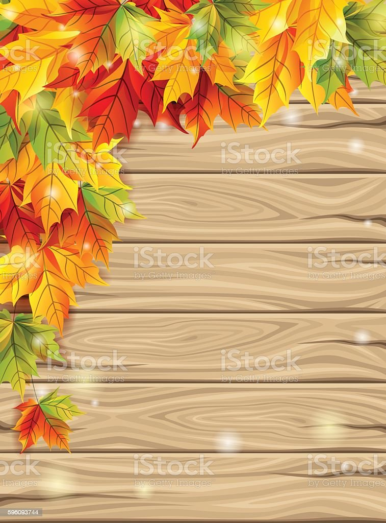 Autumn leaves on the background of wooden royalty-free autumn leaves on the background of wooden stock vector art & more images of autumn