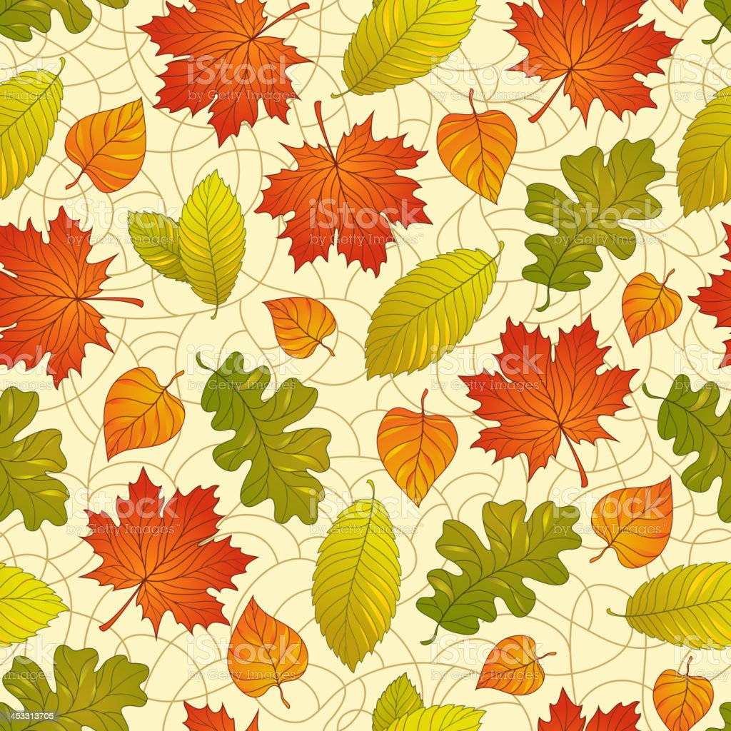 Autumn leaves pattern royalty-free stock vector art