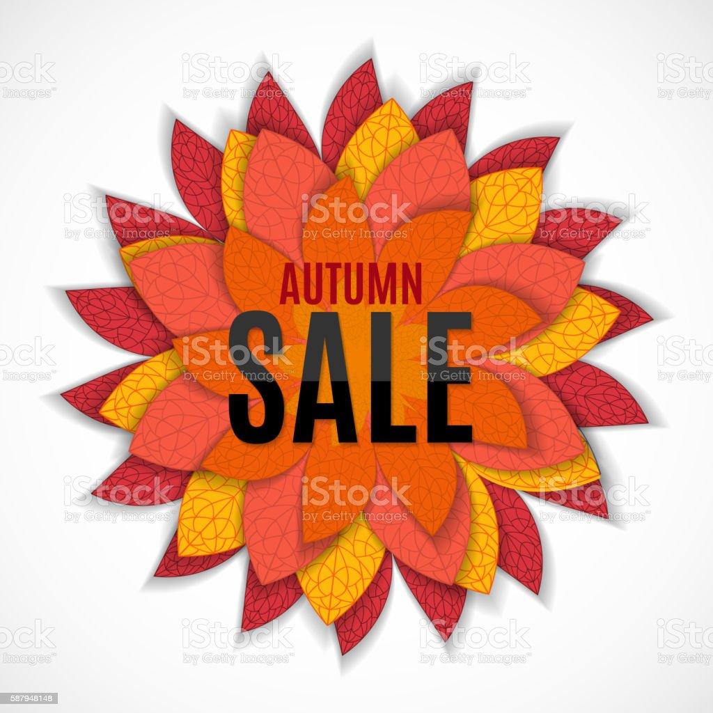Autumn Leaves Sale Background Vector Illustration vector art illustration