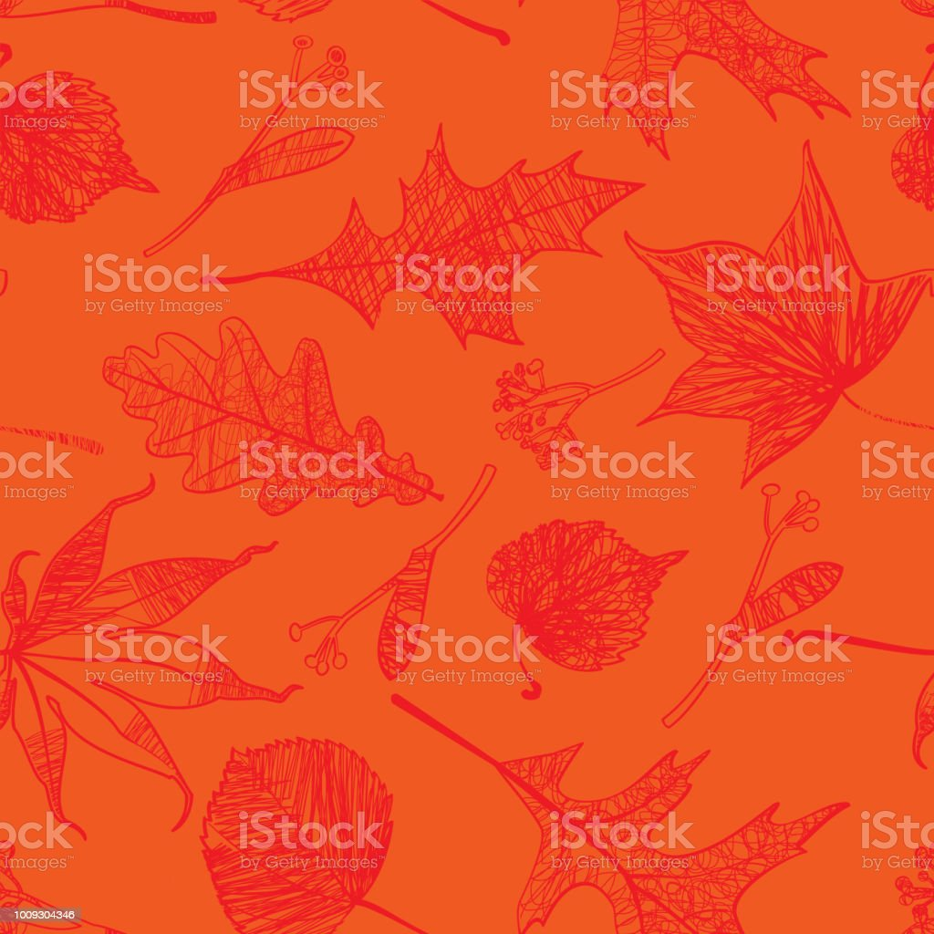 Autumn Leaves Seamless Pattern royalty-free autumn leaves seamless pattern stock vector art & more images of abstract