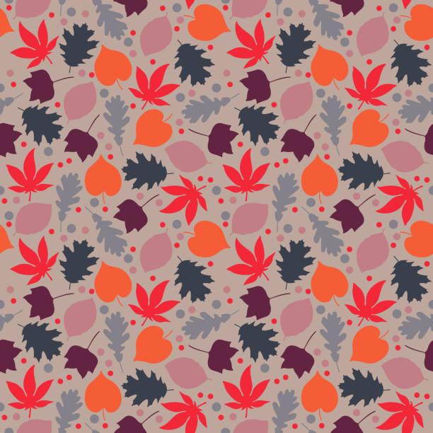 秋葉無縫圖案 - 葉狀花紋 幅插畫檔、美工圖案、卡通及圖標