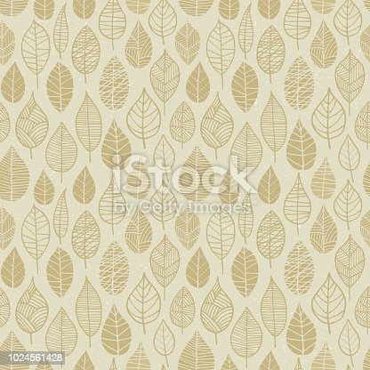 Autumn Leaves seamless pattern. - Illustration