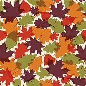 Autumn Leaves seamless pattern. - Illustration