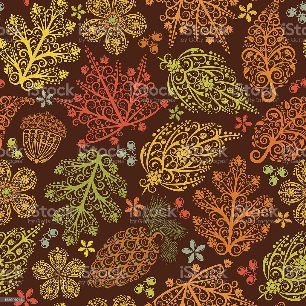 Autumn Leaves Seamless Pattern royalty-free stock vector art
