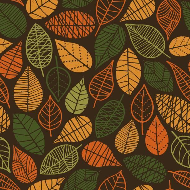 秋の葉のシームレス パターン - 秋点のイラスト素材/クリップアート素材/マンガ素材/アイコン素材