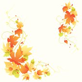Autumn Leaves with a transparent effect.  Global colors used and hi res jpeg included. Scroll down to see more of my illustrations.