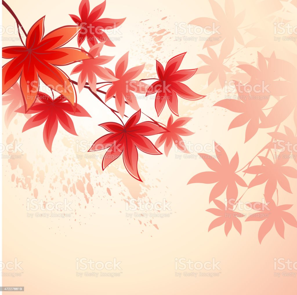 autumn leaves View Lightbox Abstract stock vector